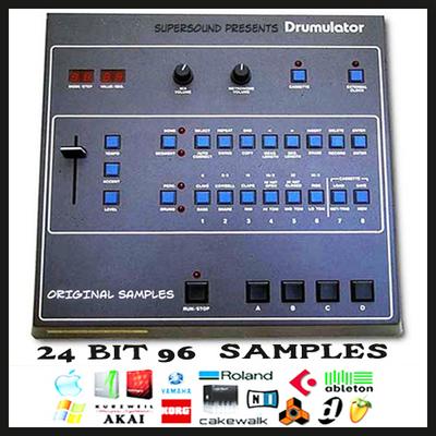 Product picture emu e-mu drumulator vintage drum machine original 24 bit 96Khz 24bit 96 khz sample