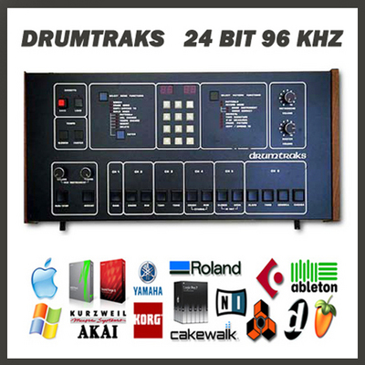 Product picture Sequential Circuits DrumTraks vintage drum machine original 24 bit 96Khz 24bit 96 khz sample