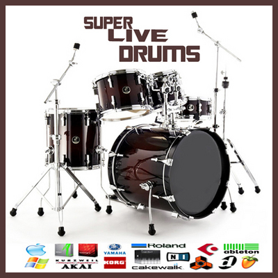 Product picture Live drums pop rock metal dub reggae drums reason sample