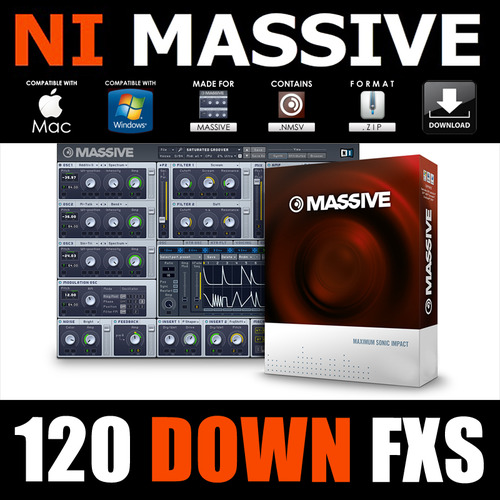 Product picture Down FX for native instruments MASSIVE nmsv presets patches